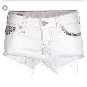True Religion embellished Joey shorts